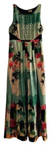 Anthropologie Maxi Cut-out Mesh Floral Dress
