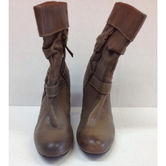 Fossil Floral Leather Brown Boots Image 1