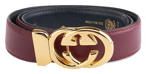 Gucci Gucci Vintage Purple Leather 'GG' Belt, Size 80/32 (48713)