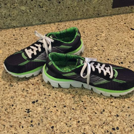 Skechers Black and bright green Athletic