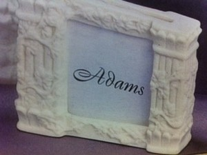 White 114 Porcelain Placecard Holders Grecian Look Colum