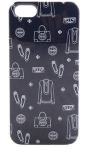 Tory Burch Icon Print Navy Hardshell Case Iphone 5