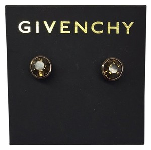 Givenchy Pewter Tone Swarovski Element Stud Earrings
