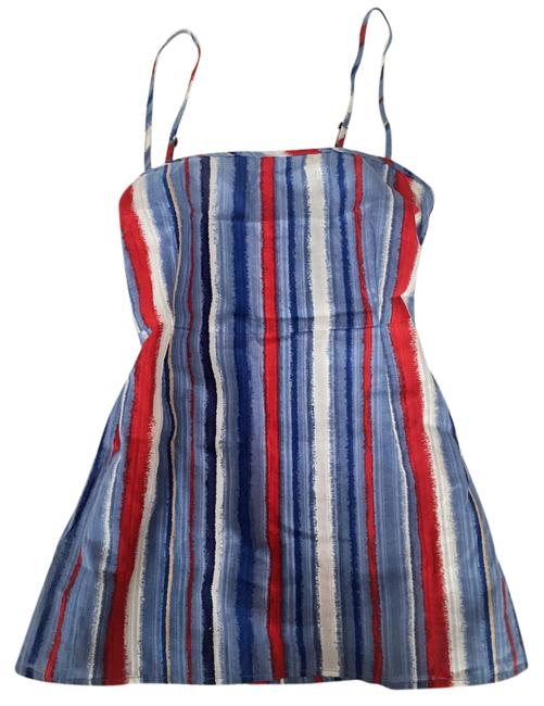 Marc by Marc Jacobs Striped Stripe Sleeveless Spaghetti Sleeve Top red, white, blue, tan, navy, sky blue