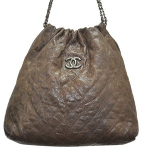 Chanel Distressed Leather Hobo Bag