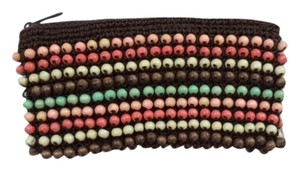 Roxy Wristlet in Brown with multi-colored beads