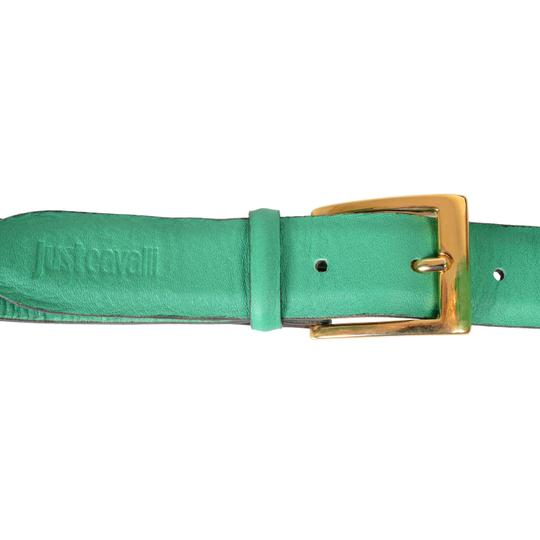 Just Cavalli Just Cavalli Women's Leather Chain Decorated Bright Green Belt Image 1