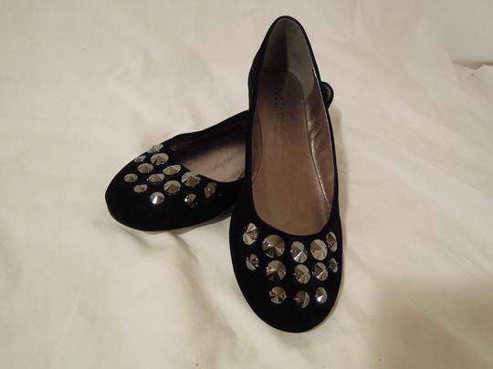 codify Velvet black Flats