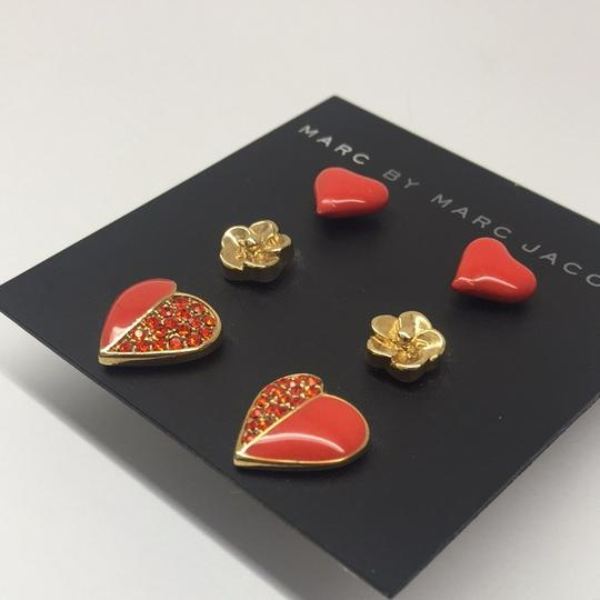 Marc by Marc Jacobs Colorblock Hearts Stud Earrings (Set of 3)