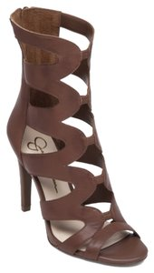 Jessica Simpson Gladiators Brown Platforms