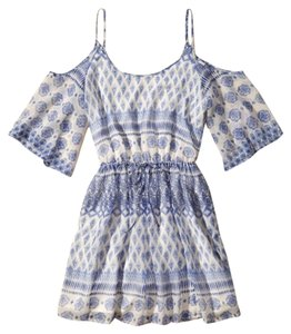 Hollister short dress blue and white on Tradesy