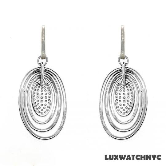 Other BRAND NEW, Ladies White Gold Oval Shape Dangle Earrings with White Diamonds
