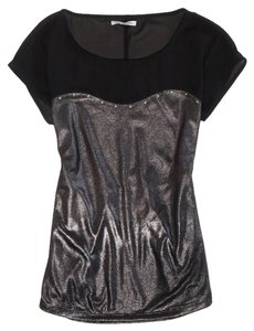b39fabbf American Eagle Outfitters Black Sheer Sexy Faux Studded Tee Small 4 - Blouse