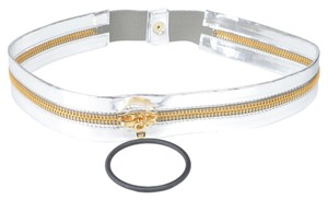 Just Cavalli Just Cavalli Women's Silver Patent Leather Belt Sz US S IT 75