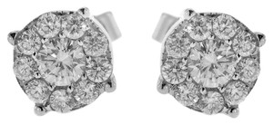 BRAND NEW, White Gold Diamond Stud Earrings for Women