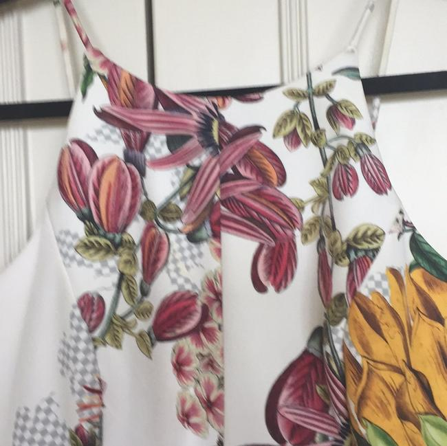 Other White with floral print Halter Top