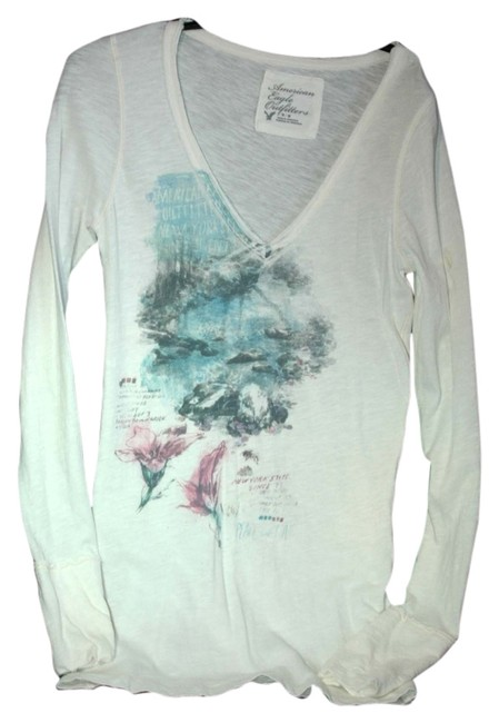 American Eagle Outfitters Top white multi