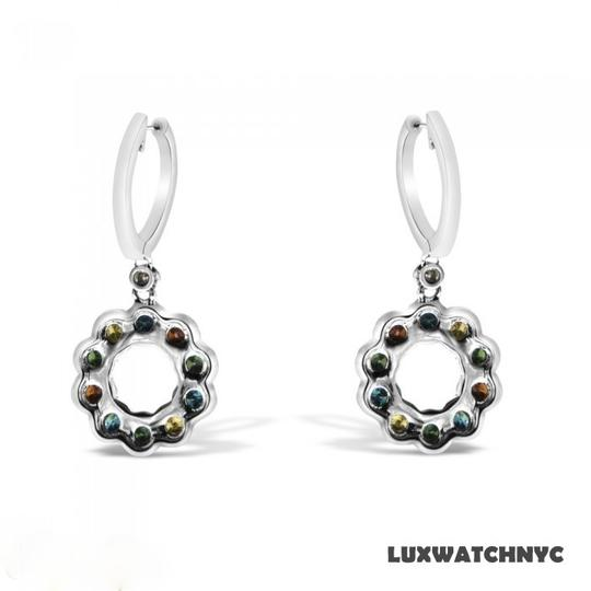 Other BRAND NEW, Ladies White Gold Multicolored Diamond Dangle Earrings