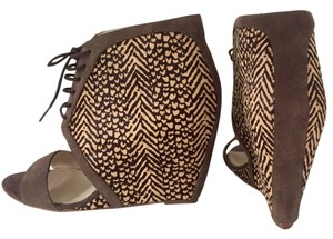 Steven by Steve Madden brown Wedges