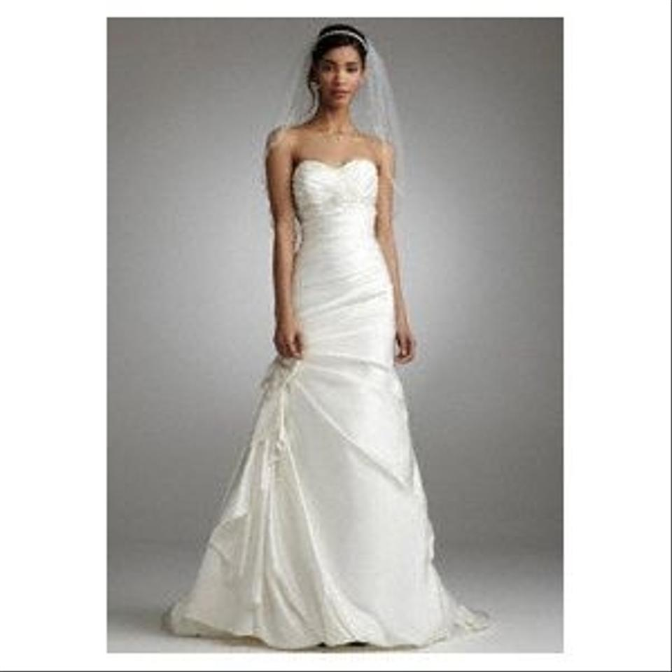 Davids Bridal Wedding Gown: Satin Fit And Flare Formal
