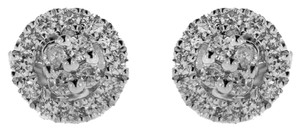 BRAND NEW, Ladies White Gold Round Diamond Studs