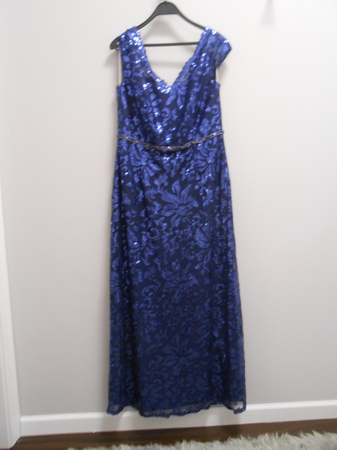 Jade Couture Mother Of The Bride Wedding Sequin Blue Beading Dress