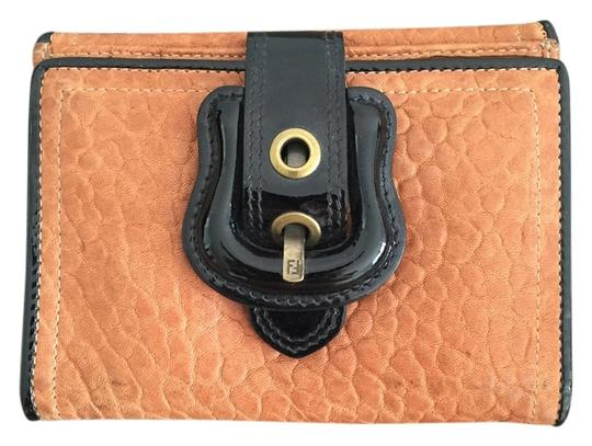 Preload https://item4.tradesy.com/images/fendi-tan-with-black-patent-leather-buckle-wallet-4864363-0-3.jpg?width=440&height=440
