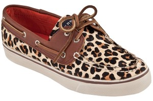 Sperry Leopard Boat Leather Leather Animal Print Mules