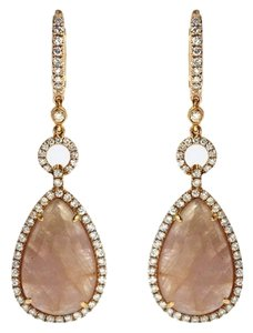 Other BRAND NEW, Ladies Rose Gold Diamond Dangle Earrings