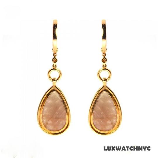Other BRAND NEW, Ladies Rose Gold Diamond Dangle Earrings Image 1