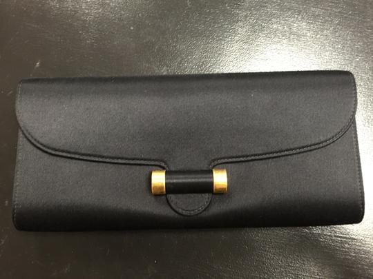 Saint Laurent Ysl Designer Satin Clutch Image 1