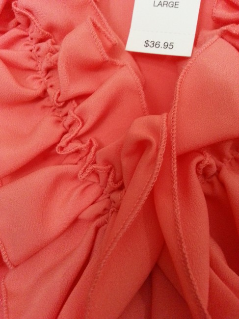 New York & Company Top Coral Image 1
