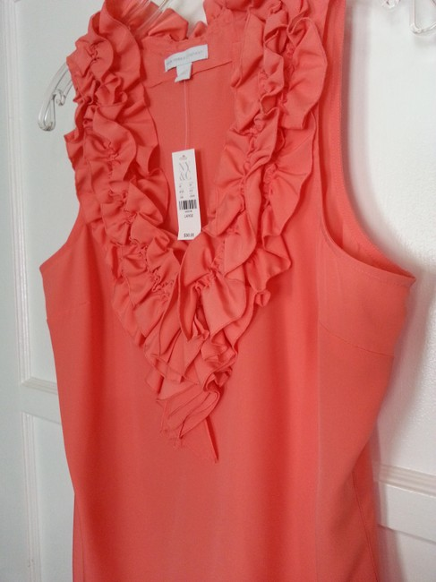 New York & Company Top Coral Image 2