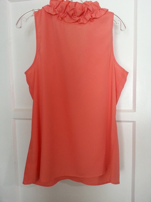 New York & Company Top Coral Image 3
