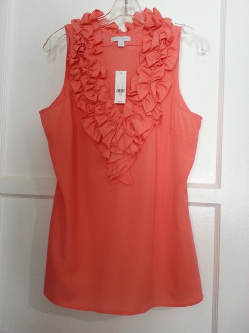 New York & Company Top Coral Image 4