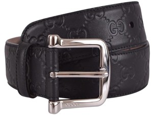 Gucci Gucci Women's Black Leather GG Guccissima Belt