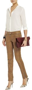 Isabel Marant Lambskin Leather Legging Anine Bing Skinny Pants Tan
