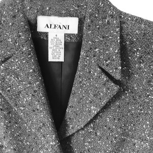 Alfani Gray Black White Tweed European Jacket