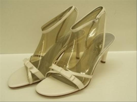 Nine West Diamond/Silk White Sweetheart Free Usa Shipping Stilettos Open Toe Ankle Strap High Heels Wear Sandals Size US 10 Regular (M, B)