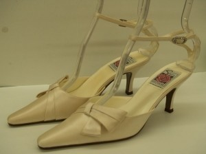 Special Occasions by Saugus Shoe Champagne 3805 Silk Formal Size US 7