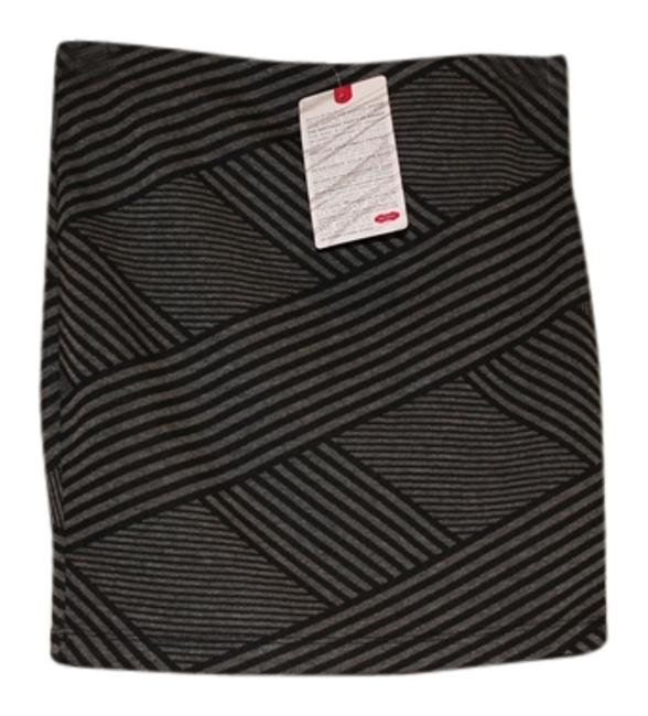Jack Hot Mama Stripe Mini Skirt Black