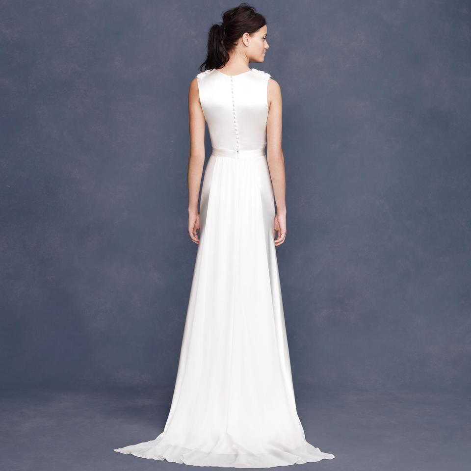 J.Crew Ivory Silk Rosabelle Vintage Wedding Dress Size 14 (L ...