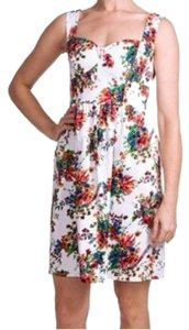 Laundry by Shelli Segal short dress White Floral Bright Cocktail Vintage on Tradesy