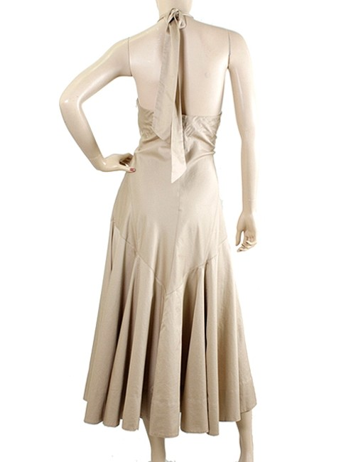 Khaki Maxi Dress by Ralph Lauren Halter Summer Keyhole