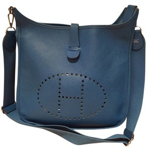 Hermès Hermes Evelyne Crossbody Electric Blue Messenger Bag