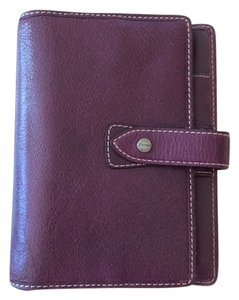 Filofax Mulberry Purple Leather Personal Organizer Agenda