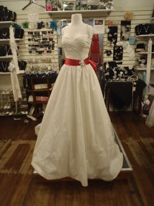 Maggie Sottero Ivory & Red Wynona By Wedding Dress Size Other