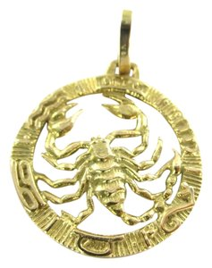 18K SOLID YELLOW GOLD PENDANT SCORPIO ESCORPION 6.2 GRAMS HOROSCOPE ZODIAC