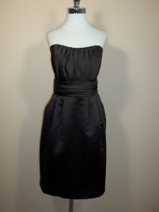 Alfred Angelo Espresso Satin 7232 Modern Bridesmaid/Mob Dress Size 14 (L)