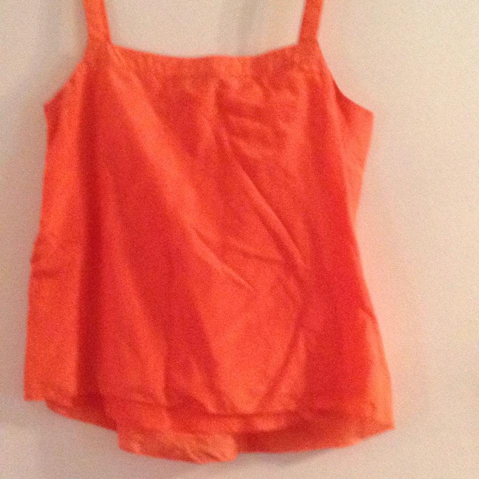 8646b7d25d8570 J.Crew Sweet Orange Silk-cotton Pintuck Tank Top Cami Size 6 (S) - Tradesy